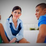 Young couple at marriage counselor